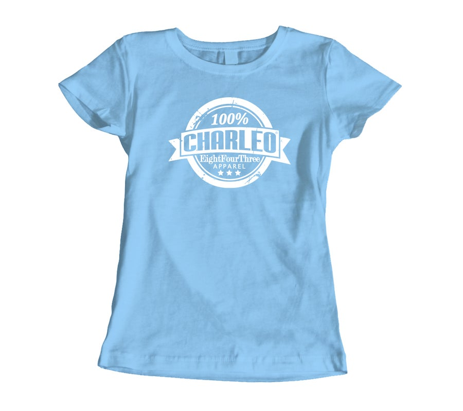 Image of The 100% Charleo Women's Tee (CLICK FOR MORE COLORS!!!)