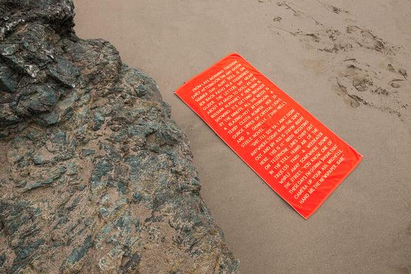 Image of Beach Towel - poppy & camel