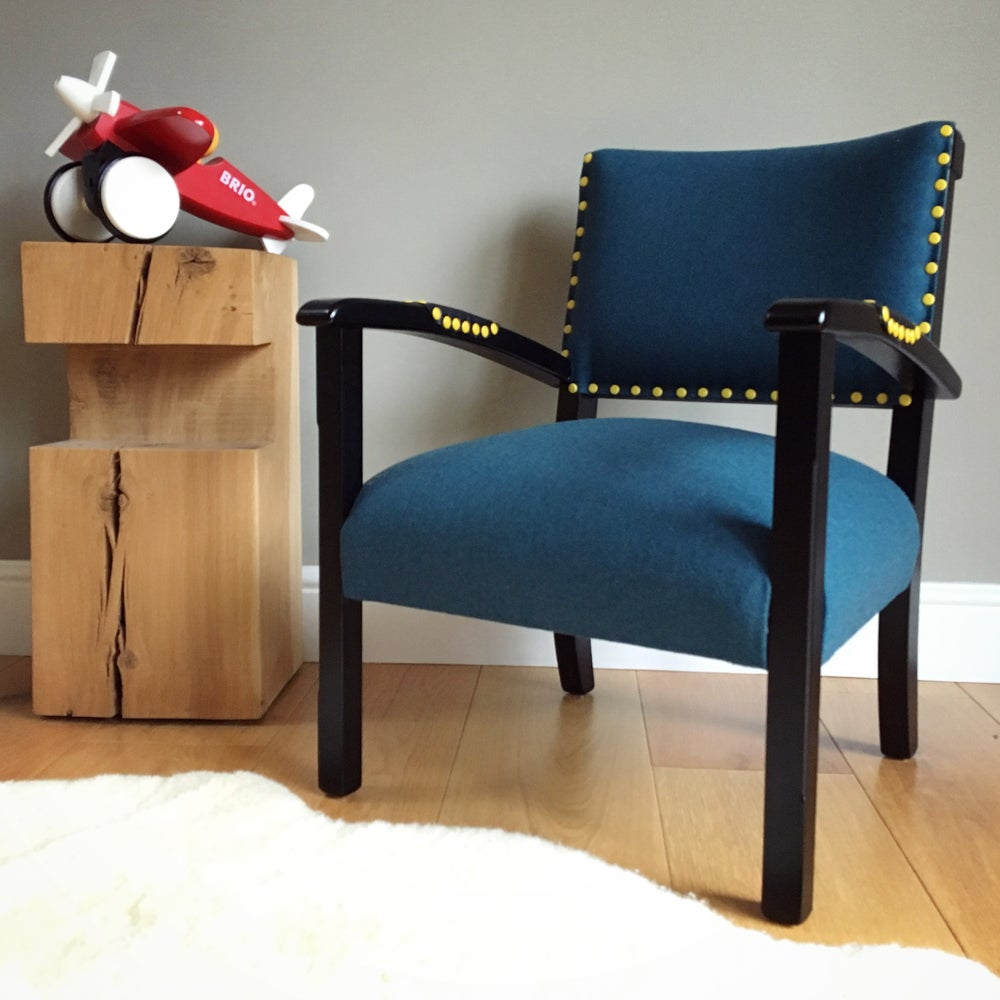 Image of The Kasper Chair - Teal & Yellow