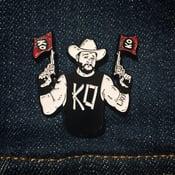 Image of KO! Enamel Pin (Red Flags)