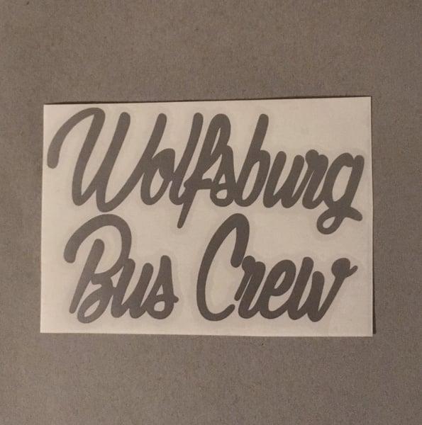 Image of Wolfsburg Bus Crew Logo Sticker [SMALL] 14cm x 9cm