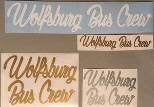 Image of Wolfsburg Bus Crew Script Sticker [MEDIUM] 27cm x 4.5cm