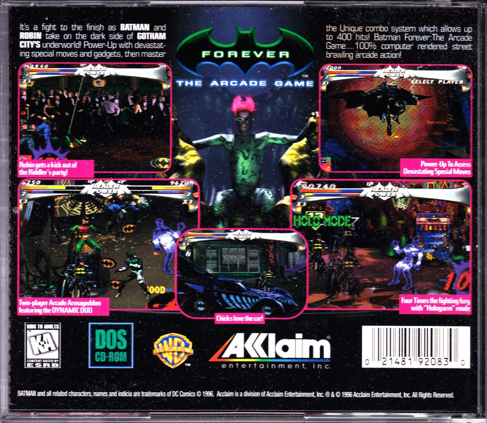 Batman forever the arcade game (usa) psx / sony playstation iso.