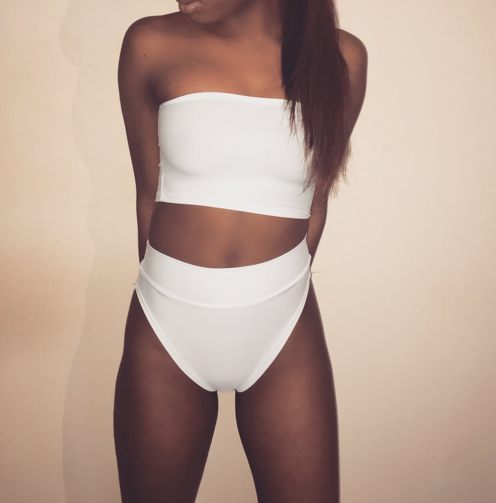 Image of Ivory High Waisted Swimsuit