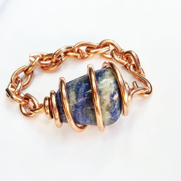 Image of Lapis Lazuli Set Crystal Bracelet
