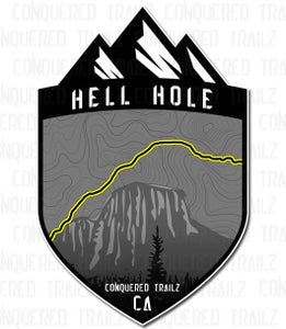 """Image of """"Hell Hole"""" Trail Badge"""