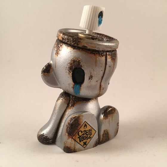 Image of Blue Empty micro munny custom czeetoyz