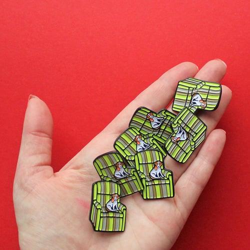 Image of Ugly chair & dog, enamel pin - badge - lapel pin