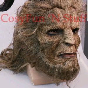 Image of Handmade Beauty and the Beast Mask Prince Dan Stevens Beast Mask Cosplay
