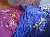 Image of Owl Shirt-MAROON