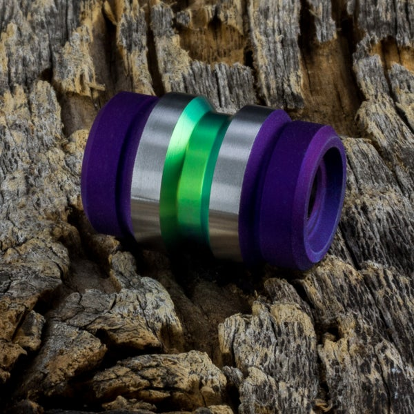 Image of Keg Lime & Deep Purple Ti Bead #1