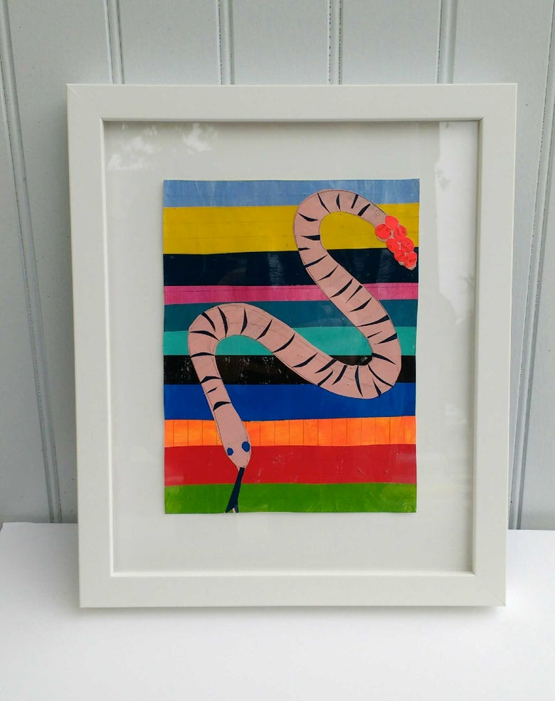 Image of Martha Rich Framed Original - Earth Worm