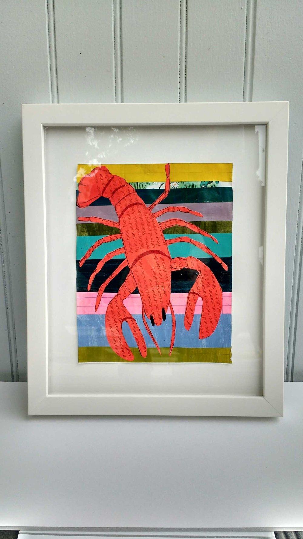 Image of Martha Rich Framed Original - Lobster