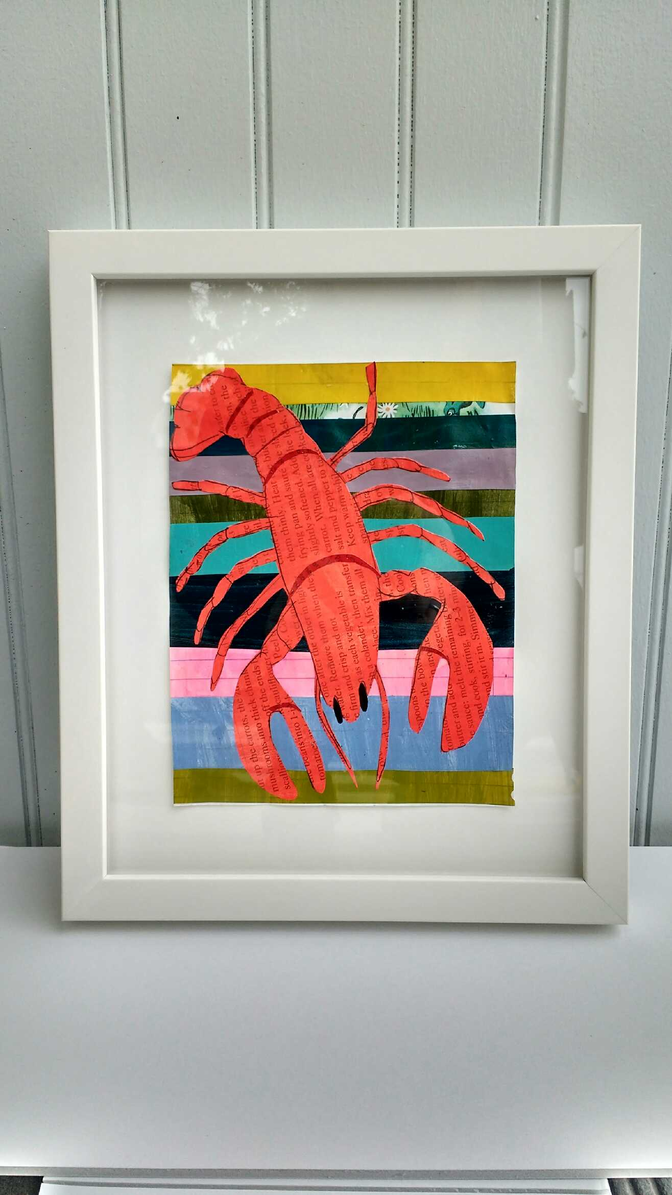 Image of Martha Rich Framed Original - Lobster