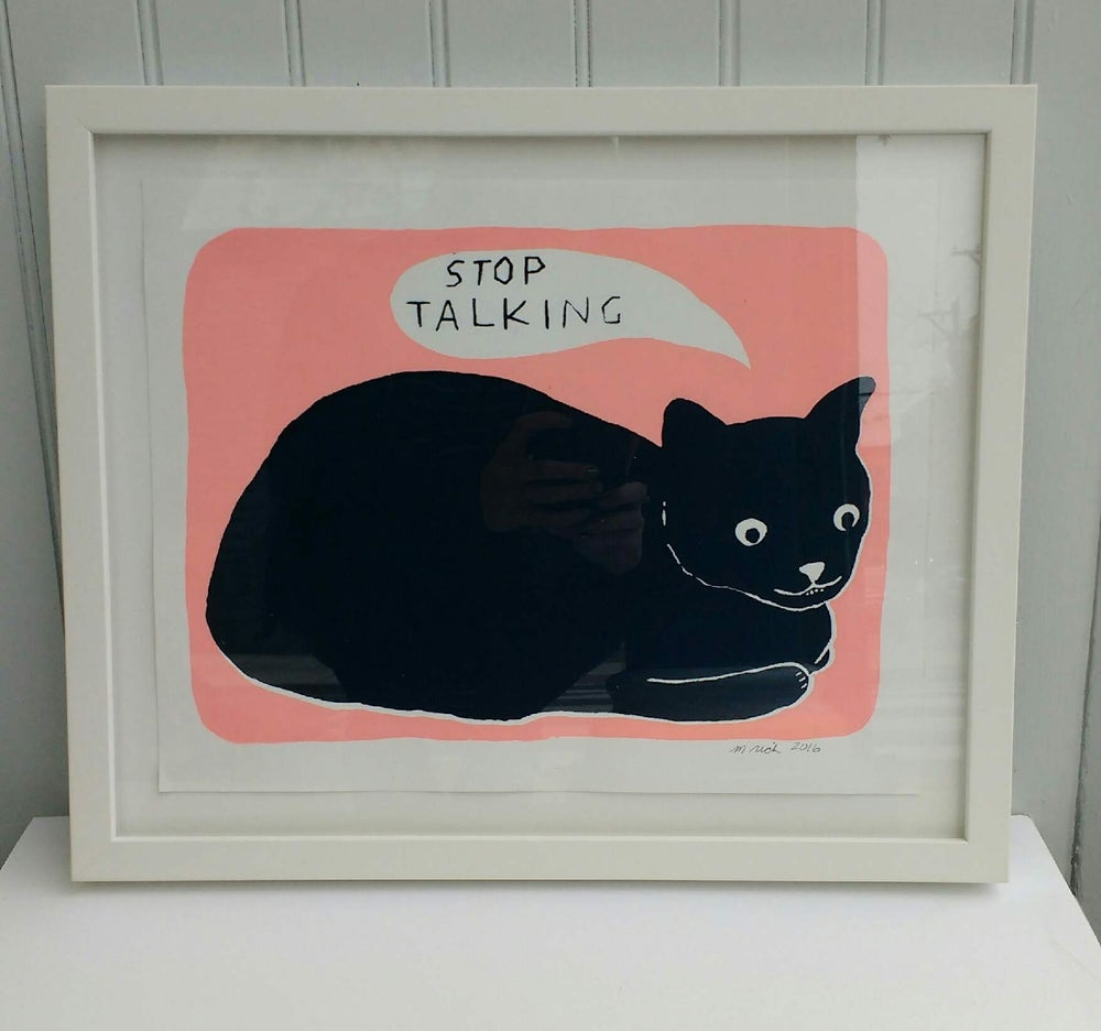 Image of Martha Rich Framed Print - Stop Talking