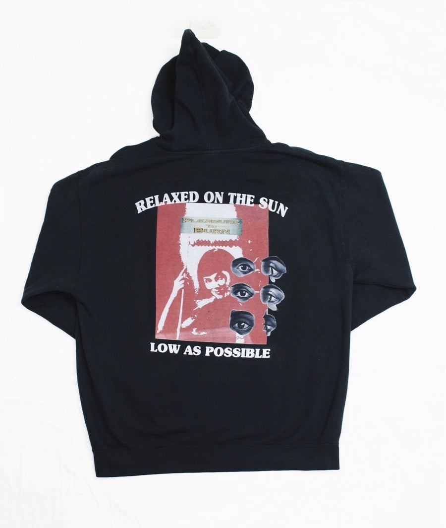 Image of PLEASURE TO BURN - HOODIE - BLACK