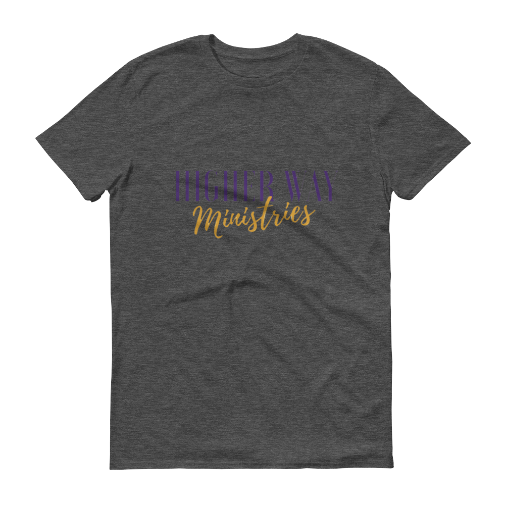 Image of Higher Way Ministries (HWM) Tee Heather Dark Grey