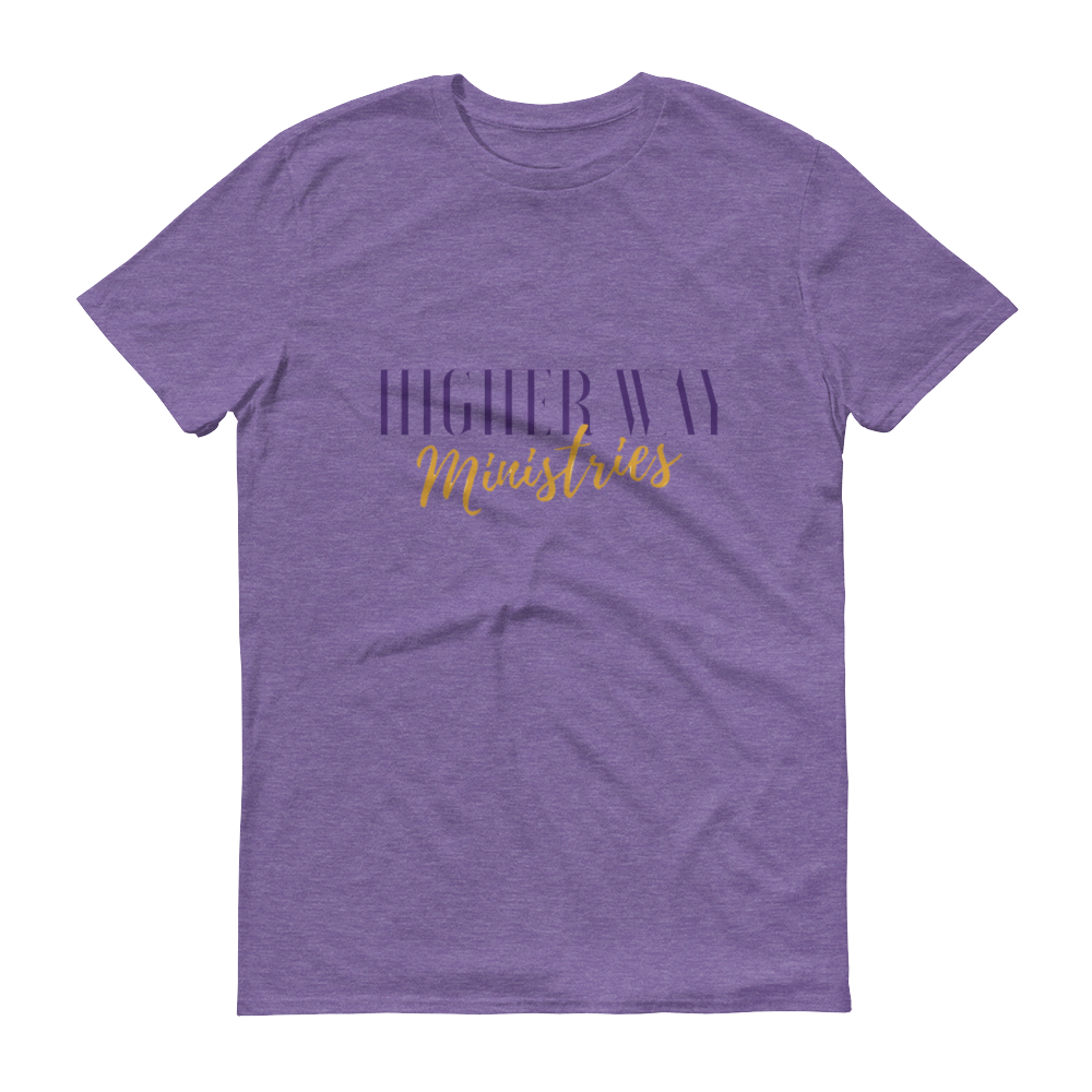 Image of Higher Way Ministries (HWM) Tee Heather Purple