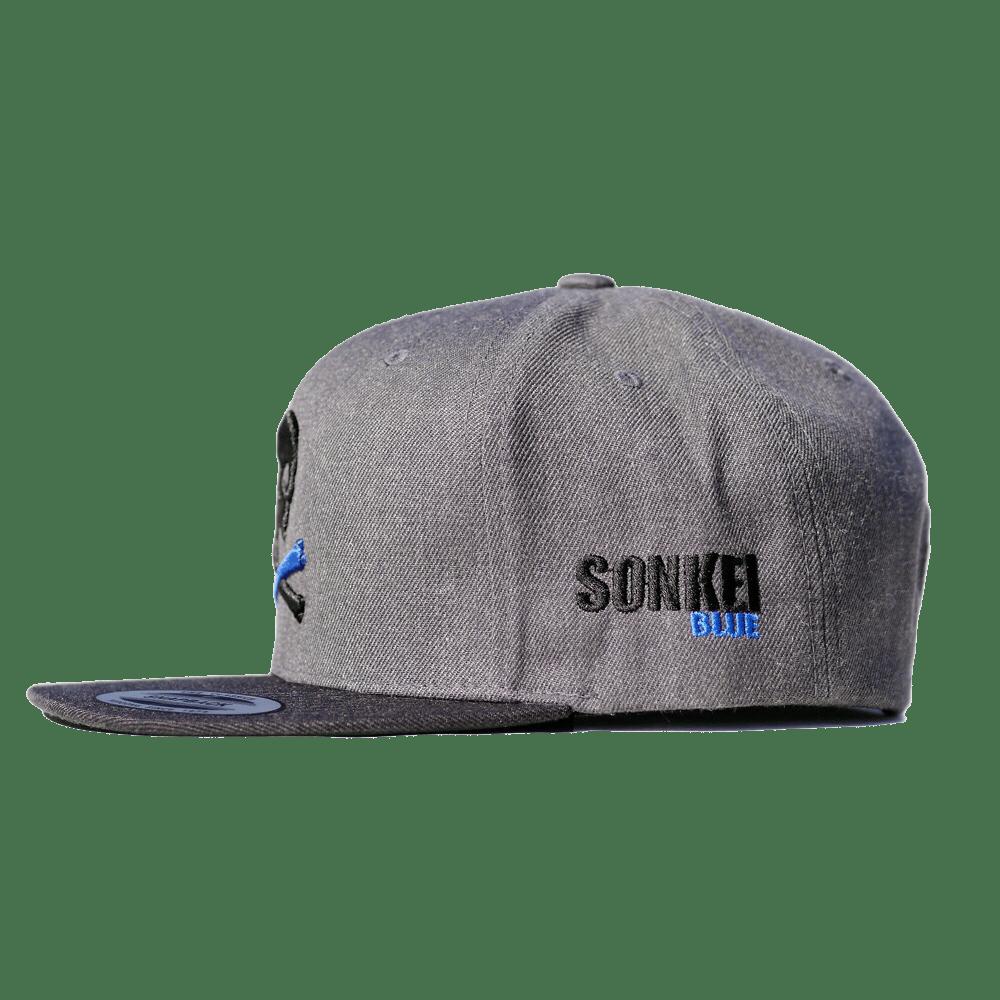 Sonkei Blue 3D Puff Snapback Grey   Black   Sonkei Blue be1a01e818e