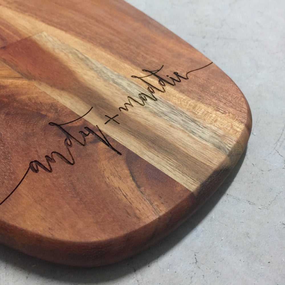 Image of Custom wooden serving board