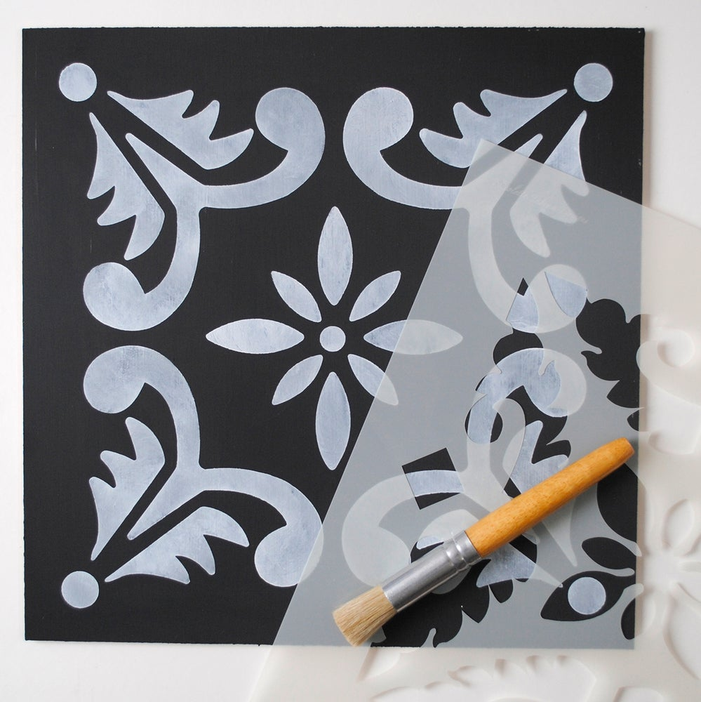 Image of Large Fes Floor Stencil