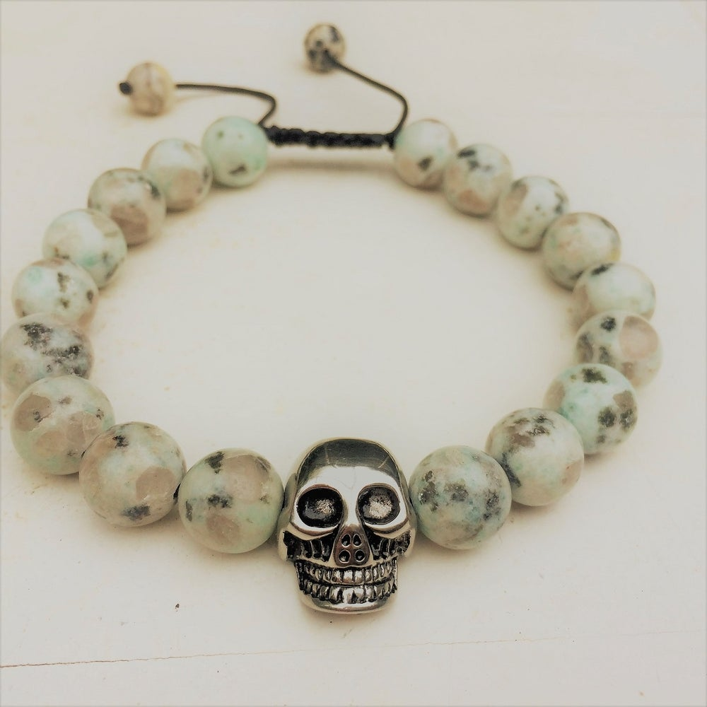 Image of Only for Men Armband Skull Jasper