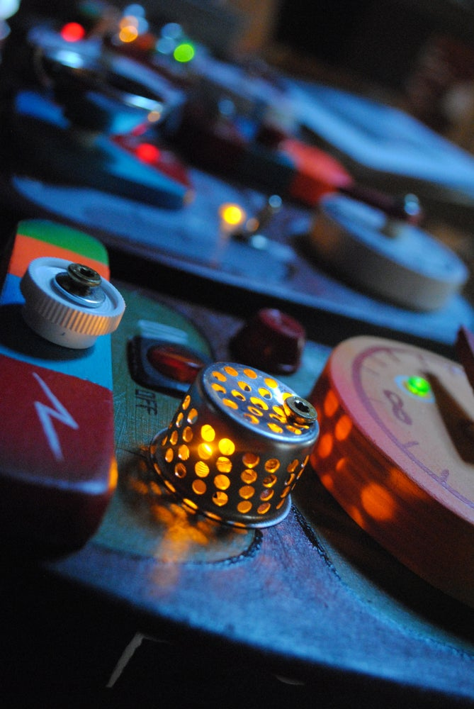Image of OUT OF CONTROL PANELS (Mini) Handmade Kids L.E.D. Toggle Switch Night Light RESTOCK!