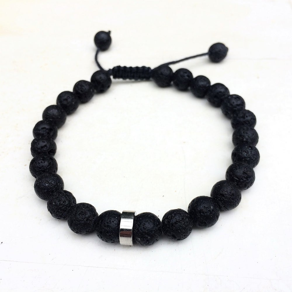 Image of Only for Men Armband Black Lava