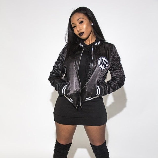 Image of Who Betta Satin Luxury Bomber