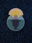 Image of 5 Pack of Kimya Dawson Manatee Stickers (designed by Aesop Rock)