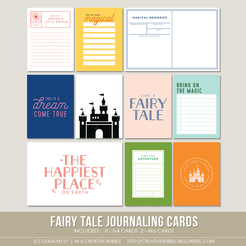 Image of Fairy Tale Journaling Cards (Digital)