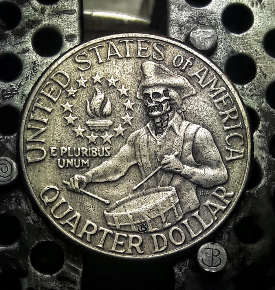 Image of Bicentennial Reverse Skull Quarter - Made To Order