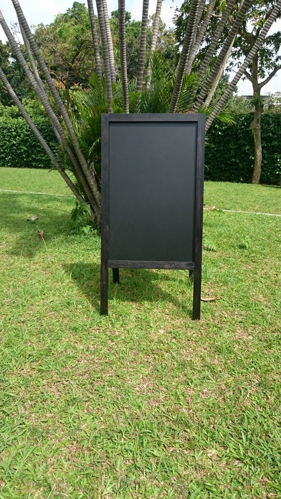 Image of Medium double sided chalkboard with black frame (90cm X 60cm)