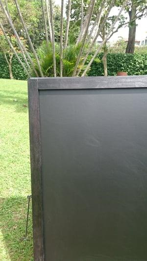 Medium double sided chalkboard with black frame (90cm X 60cm)