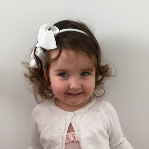 Image of White Bow Headband