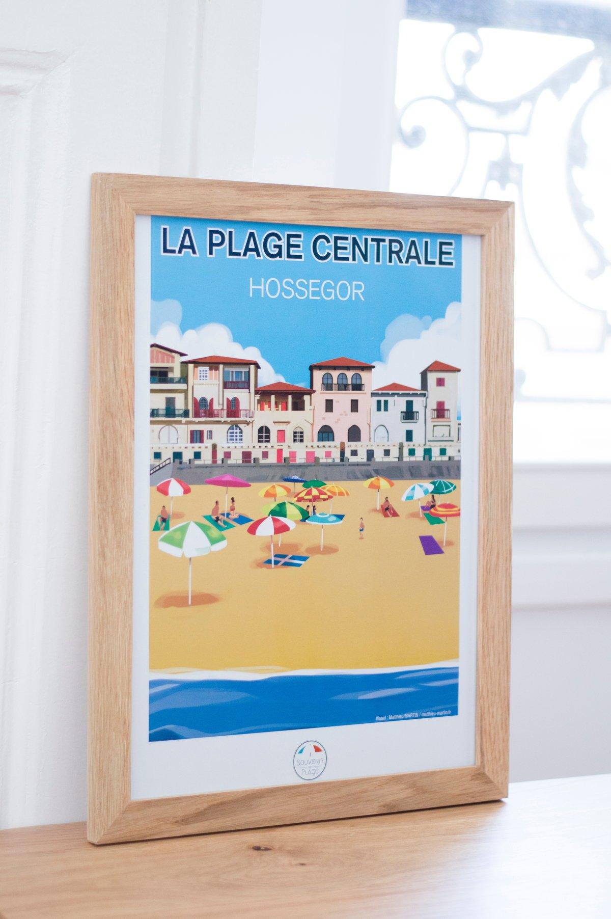 Image of La Plage Centrale - Hossegor - Poster