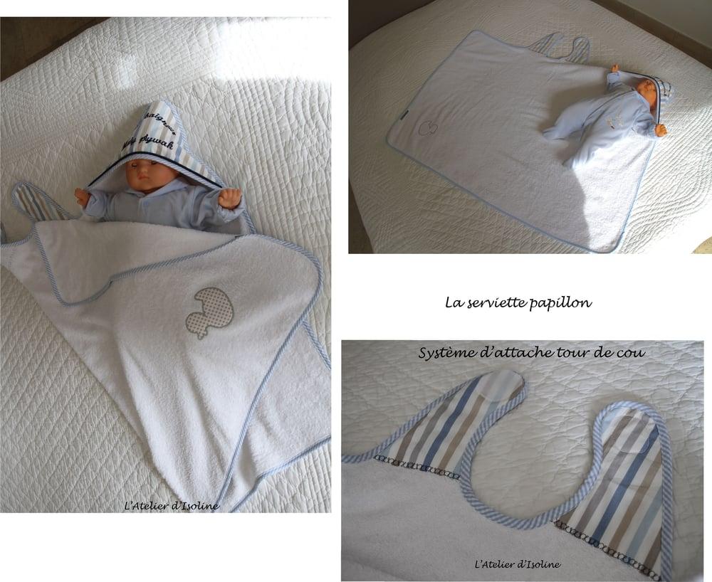 Image of Serviette Papillon sur mesure
