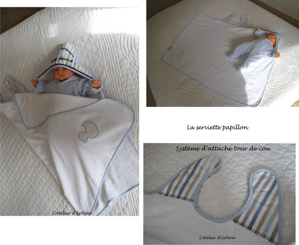 Image of Serviette Papillon sur mesure