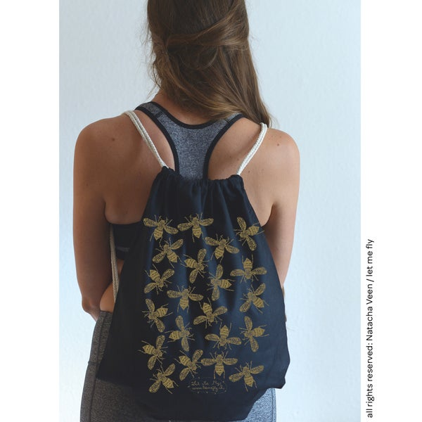 Image of Gym bag *gold bees*