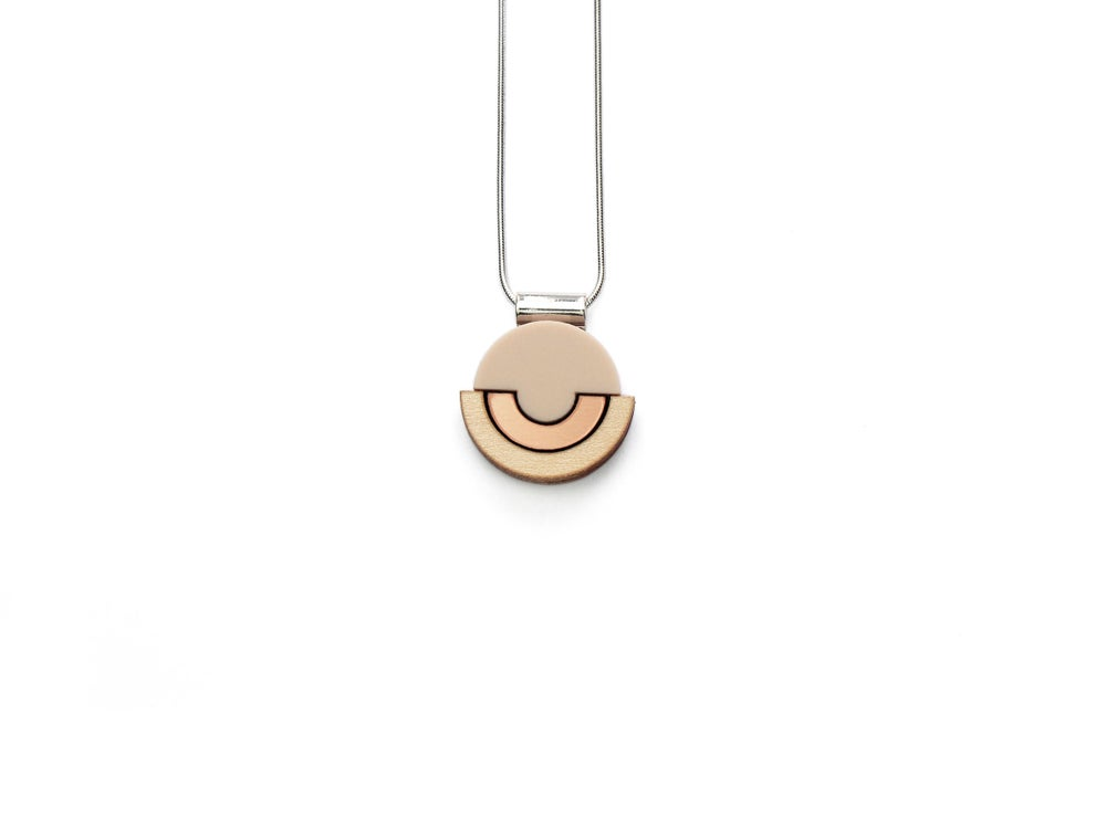 Image of Contour Necklace - Rose