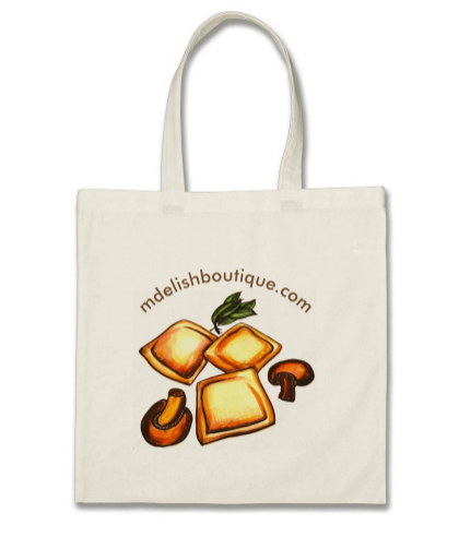 Image of Reusable Tote for Groceries & Daily Use - Ravioli