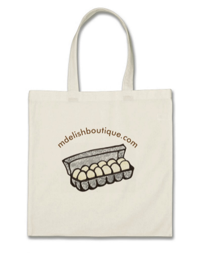 Image of Reusable Tote for Groceries and Daily Use -- Eggs In Carton