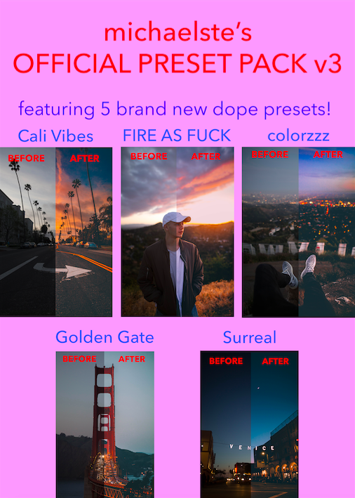 Image of MICHAEL STERIC PRESET PACK #3 - 5 PRESETS INCLUDED