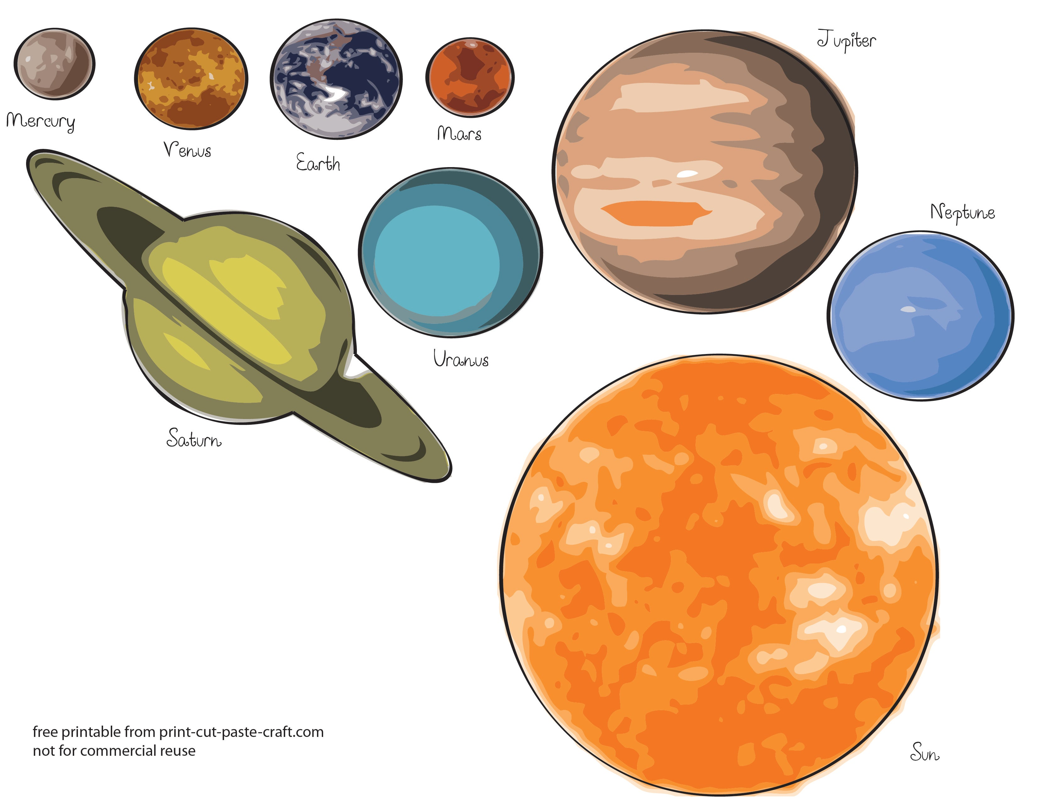 When you remove all the touchups and filters the planets of the Solar System look slightly different than you might imagine especially in terms of color