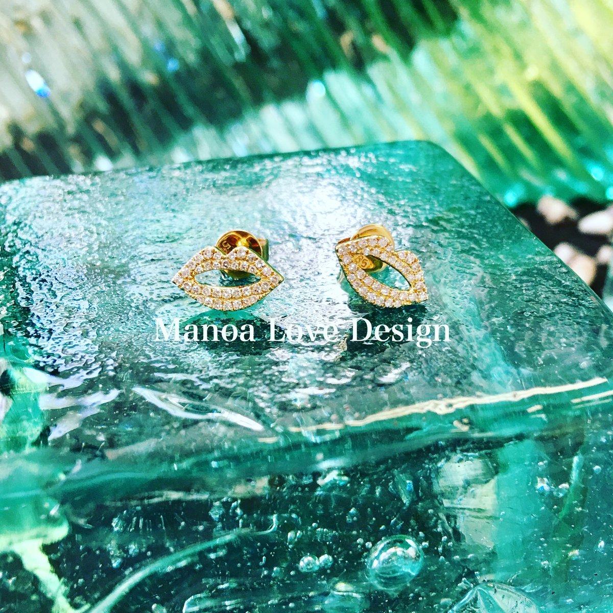 Image of kiss diamonds earrings