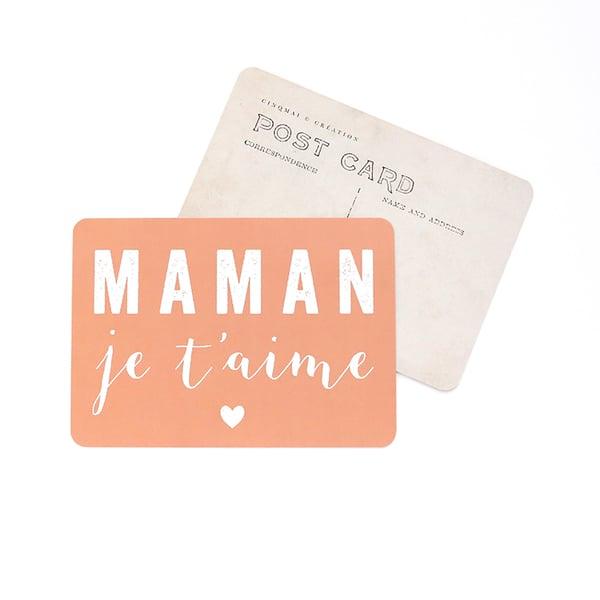 Image of Carte Postale MAMAN JE T'AIME / PÊCHE DE VIGNE