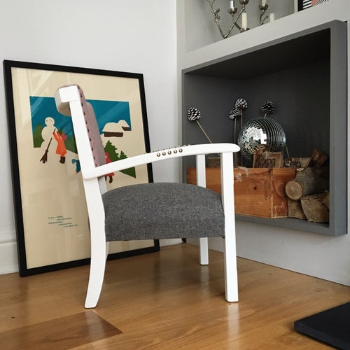 Image of The Kapser Chair - Blossom / Charcoal & Silver