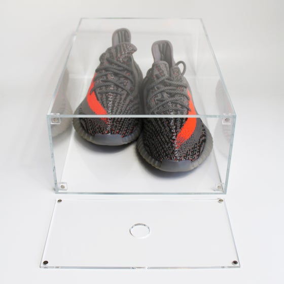 "Image of Drop Front Shoe Box ""Slim"""