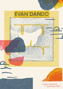 Image of Evan Dando - Baby I'm Bored World Tour 2017 Poster