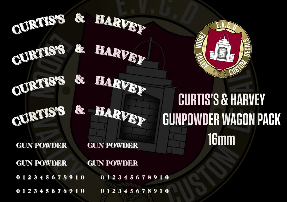 Image of Curtis's & Harvey Gunpowder Wagon pack 16mm